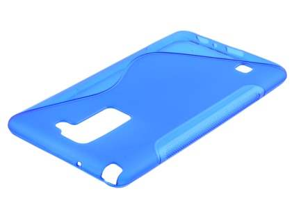 Wave Case for LG Stylus DAB+ - Frosted Blue/Blue Soft Cover