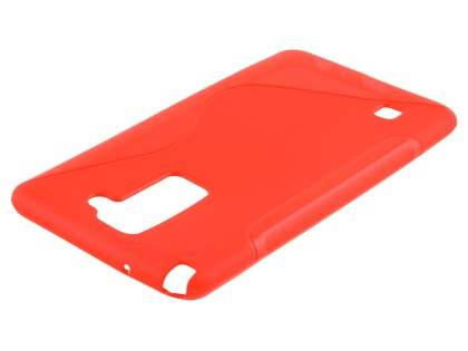 Wave Case for LG Stylus DAB+ - Frosted Red/Red Soft Cover