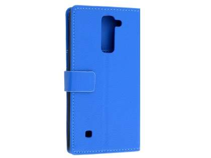 Slim Synthetic Leather Wallet Case with Stand for LG Stylus DAB+ - Blue Leather Wallet Case