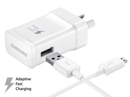 Genuine Samsung Adaptive Fast Charger with 1.5m Micro USB cable - White