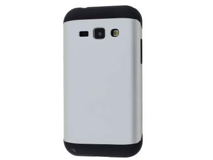 Impact Case for Samsung Galaxy J1 Ace - Silver/Black Impact Case