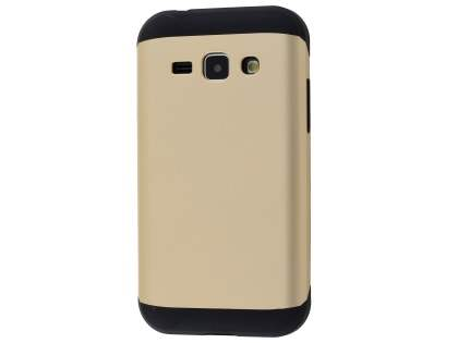 Impact Case for Samsung Galaxy J1 Ace - Gold/Black Impact Case