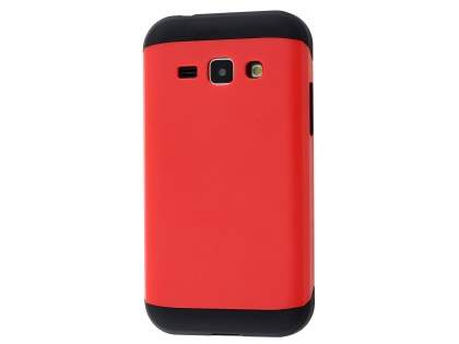 Impact Case for Samsung Galaxy J1 Ace - Red/Black Impact Case