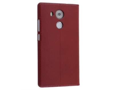 Premium Leather Smart View Case With Stand for Huawei Mate 8 - Burgundy S View Cover