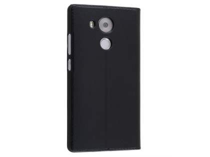 Premium Leather Smart View Case With Stand for Huawei Mate 8 - Classic Black