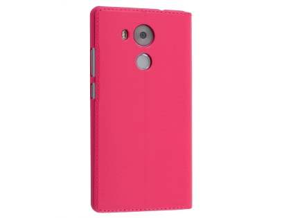 Premium Leather Smart View Case With Stand for Huawei Mate 8 - Pink S View Cover
