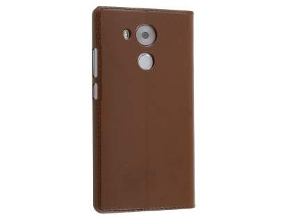 Premium Leather Smart View Case With Stand for Huawei Mate 8 - Brown S View Cover