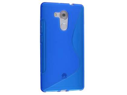 Huawei Mate 8 Wave Case - Frosted Blue/Blue Soft Cover