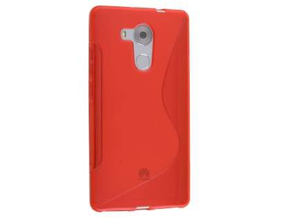 Huawei Mate 8 Wave Case - Frosted Red/Red Soft Cover