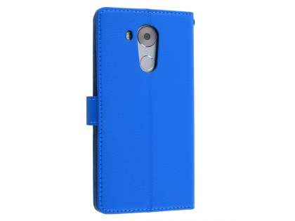 Synthetic Leather Wallet Case with Stand for Huawei Mate 8 - Blue Leather Wallet Case