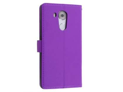 Synthetic Leather Wallet Case with Stand for Huawei Mate 8 - Purple Leather Wallet Case