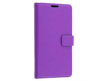 Synthetic Leather Wallet Case with Stand for Huawei Mate 8 - Purple