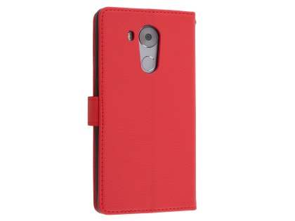 Synthetic Leather Wallet Case with Stand for Huawei Mate 8 - Red Leather Wallet Case