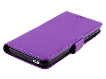 HTC Desire 530 Slim Synthetic Leather Wallet Case with Stand - Purple