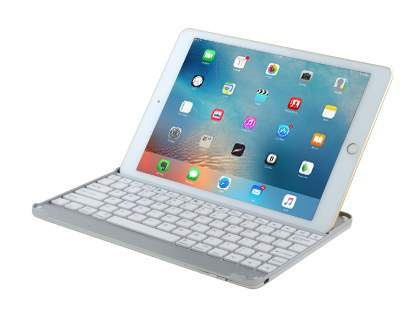 Aluminium Bluetooth Keyboard for the iPad Pro 12.9 - White/Silver Keyboard