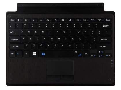 Leather Coated Bluetooth Keyboard for Microsoft Surface Pro 3/4 - Classic Black