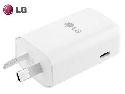 Genuine LG USB-C (Also Known as USB Type-C) Power Adaptor - White AC Wall Charger