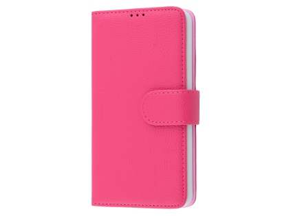 Slim Synthetic Leather Wallet Case with Stand for Microsoft Lumia 650 - Pink