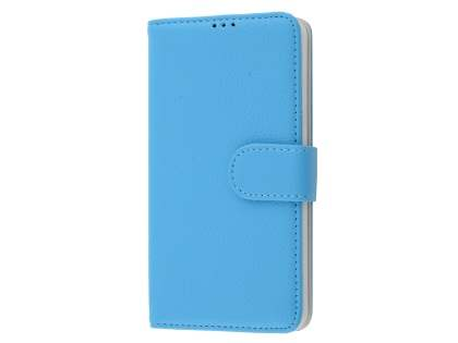 Slim Synthetic Leather Wallet Case with Stand for Microsoft Lumia 650 - Sky Blue