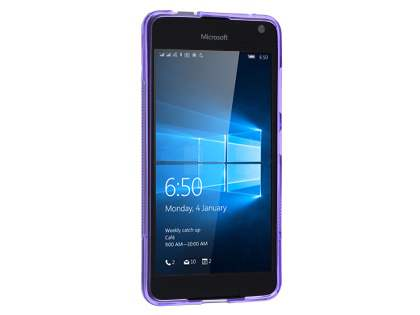 Wave Case for Microsoft Lumia 650 - Frosted Purple/Purple