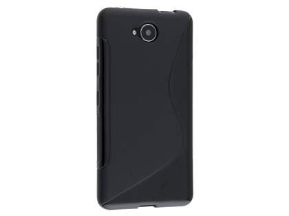 Wave Case for Microsoft Lumia 650 - Frosted Black/Black Soft Cover