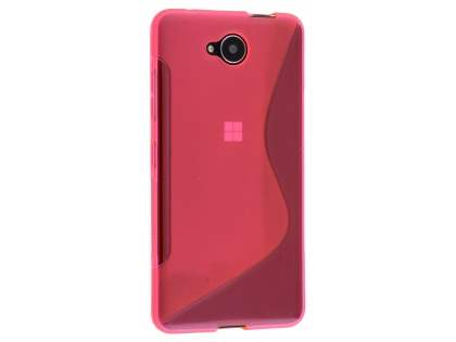 Wave Case for Microsoft Lumia 650 - Frosted Pink/Pink Soft Cover