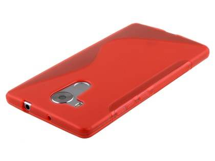 Huawei Mate 8 Wave Case - Frosted Red/Red