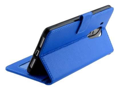 Synthetic Leather Wallet Case with Stand for Huawei Mate 8 - Blue