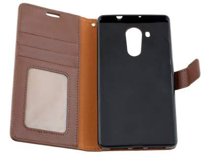 Synthetic Leather Wallet Case with Stand for Huawei Mate 8 - Brown