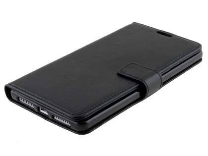 Synthetic Leather Wallet Case with Stand for Huawei Mate 8 - Classic Black