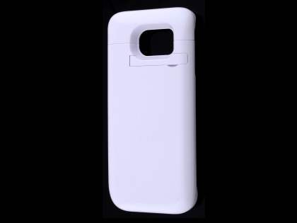 4800mAh Power Case Battery with Stand for Samsung Galaxy S6 Edge - Pearl White