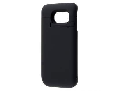 4800mAh Power Case Battery with Stand for Samsung Galaxy S6 Edge - Classic Black Case Battery