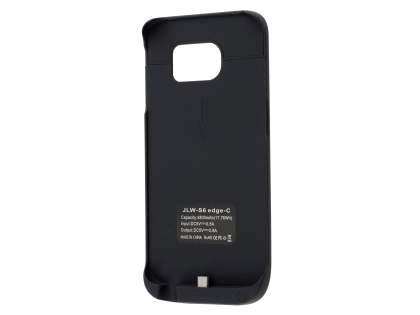 4800mAh Power Case Battery with Stand for Samsung Galaxy S6 Edge - Classic Black