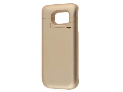 4800mAh Power Case Battery with Stand for Samsung Galaxy S6 Edge - Gold Case Battery