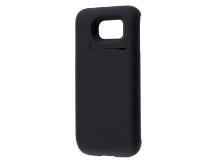 4800mAh Power Case Battery with Stand for Samsung Galaxy S6 - Classic Black