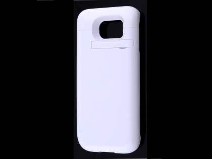 4800mAh Power Case Battery with Stand for Samsung Galaxy S6 - White Case Battery