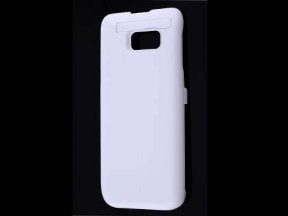 5800mAh Power Case Battery with Stand for Samsung Galaxy S6 Edge Plus - White Case Battery