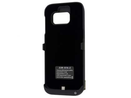 6000mAh Power Case Battery with Stand for Samsung Galaxy S7 - Classic Black