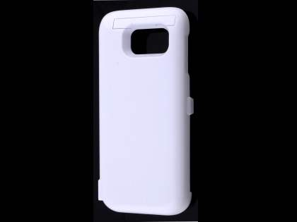 6000mAh Power Case Battery with Stand for Samsung Galaxy S7 - White Case Battery