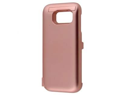 6000mAh Power Case Battery with Stand for Samsung Galaxy S7 - Rose Gold Case Battery