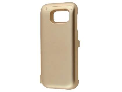 6000mAh Power Case Battery with Stand for Samsung Galaxy S7 - Gold Case Battery