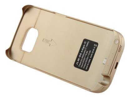 4800mAh Power Case Battery with Stand for Samsung Galaxy S6 Edge - Gold