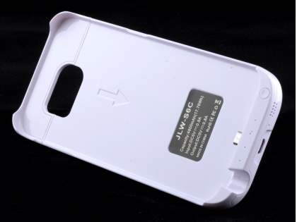 4800mAh Power Case Battery with Stand for Samsung Galaxy S6 - White