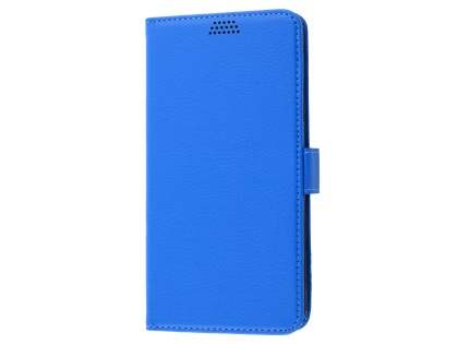 Slim Synthetic Leather Wallet Case with Stand for Oppo R9 4G - Blue