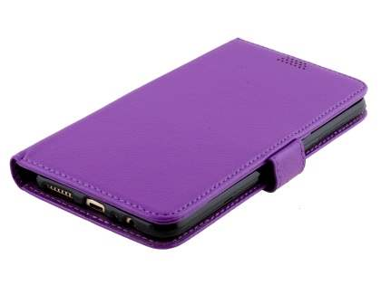 Slim Synthetic Leather Wallet Case with Stand for Oppo R9 4G - Purple