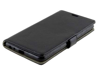 LG Stylus DAB+ Slim Synthetic Leather Wallet Case with Stand - Classic Black