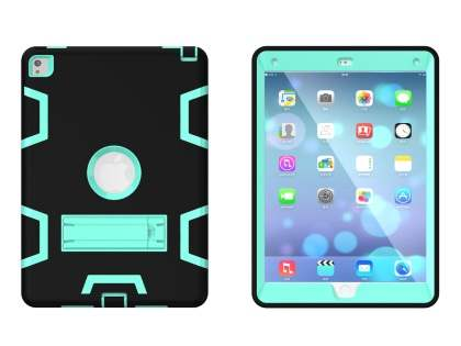 Impact Case with Stand for iPad Pro 9.7 - Black/Mint