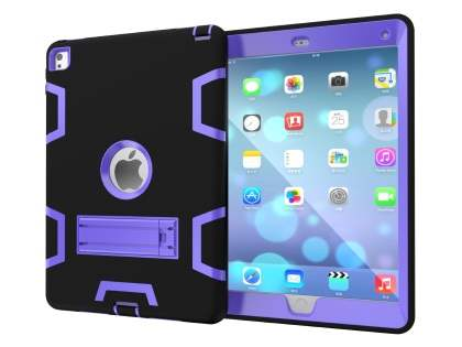 Impact Case with Stand for iPad Pro 9.7 - Black/Purple Impact Case