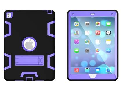 Impact Case with Stand for iPad Pro 9.7 - Black/Purple