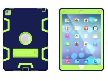 Impact Case with Stand for iPad Pro 9.7 - Navy/Lime
